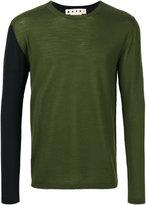 Marni two tone crew neck sweater - men - Wool - 46