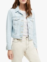 French Connection Macee Denim Jacket, Light Blue