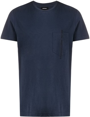 Diesel embroidered slogan crew neck T-shirt