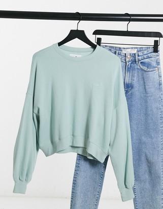 Hollister Icon crew neck sweatshirt in mint