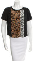 Elizabeth and James Printed Silk Top