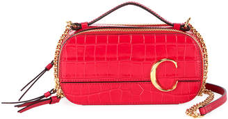 Chloé C Multi Crocodile-Embossed Crossbody Bag