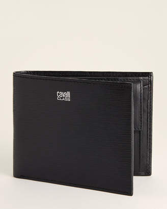 Class Roberto Cavalli Leather Coin Pocket Bifold Wallet