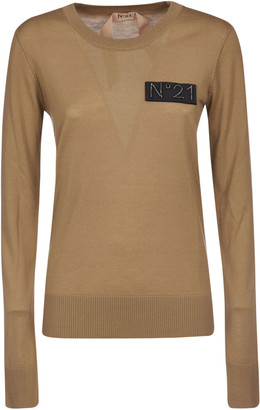 N°21 N.21 Logo Patch Laced Sweater