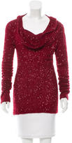Donna Karan Sequined Cashmere Top