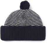 Oliver Spencer Dock Striped Wool Bobble Hat