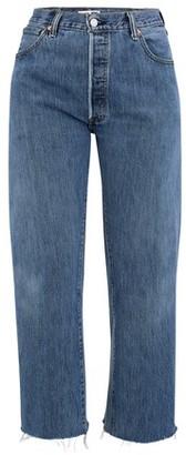 RE/DONE Ultra High Rise Wide Leg Crop Jeans