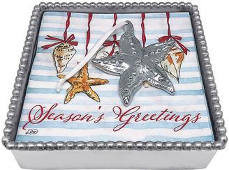 Mariposa Starfish Ornament Beaded Napkin Box