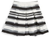 Milly Minis Girl's Illusion Stripe Skirt