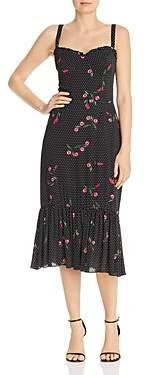 WAYF Eloise Polka-Dot Bustier Midi Dress - 100% Exclusive