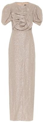 Costarellos Prinda sequined gown