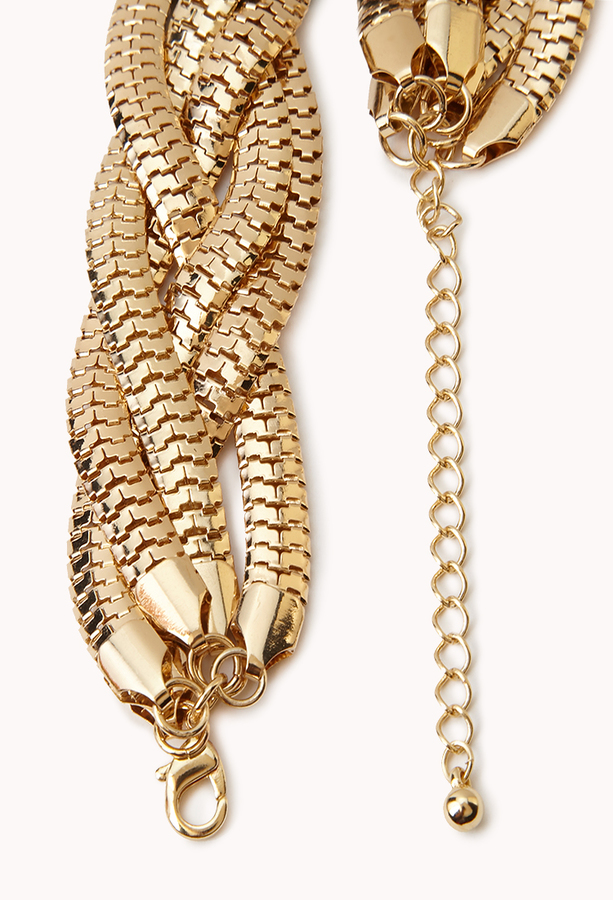 Forever 21 Colorblocked Snake Chain Necklace