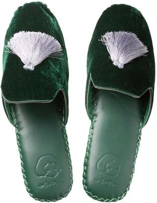 Womens Classic Handmade Slipper - Green