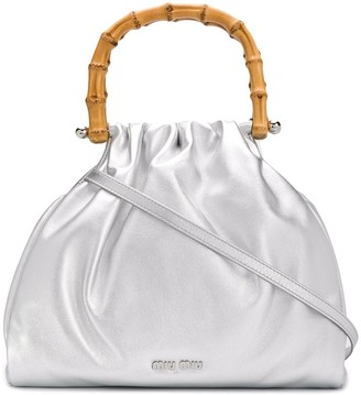 Miu Miu Bamboo Handle Tote Bag