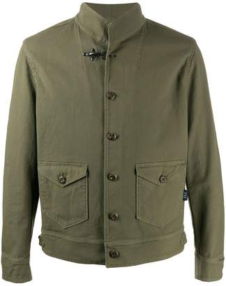 Fay Button Military Jacket