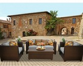 Tegan 7 Piece Sofa Seating Group with Cushions Sol 72 Outdoor Cushion Color: Gray