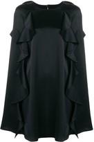 Valentino Frilled Cape Dress