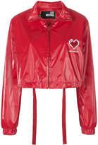 Love Moschino cropped heart bomber jacket