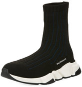 Balenciaga Speed Ribbed Low Trainer Sneaker