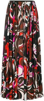 Emilio Pucci Pleated Printed Skirt