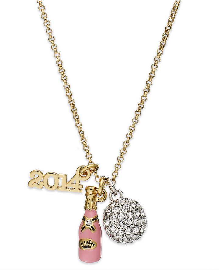 Juicy Couture Gold-Tone New Year's Charm Necklace