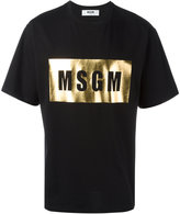 MSGM metallic logo T-shirt - men - Cotton - S