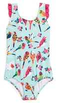 Hatley Girl's Tropical Birds One-Piece Swimsuit