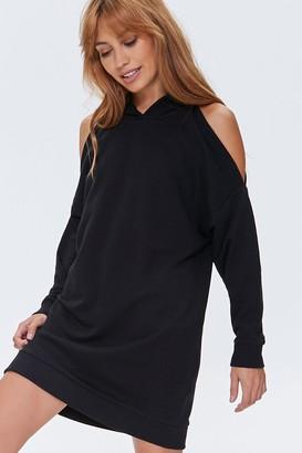 Forever 21 Open-Shoulder Hoodie Dress