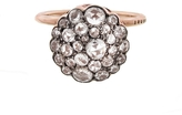 Selim Mouzannar Large Bezel Floral Diamond Ring - Rose Gold