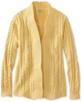 L.L. Bean L.L.Bean Double L Cotton Sweater, Open Cardigan