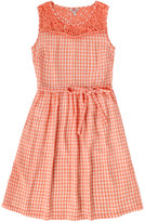 Cath Kidston Gingham and Lace Dress