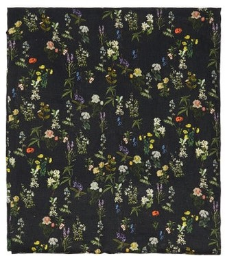 Preen by Thornton Bregazzi Floral-print 200cm X 140cm Linen Tablecloth - Black Print