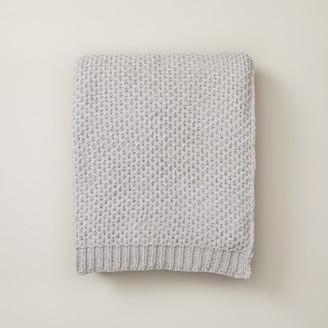 Oui Honeycomb Chenille Throw Light Grey