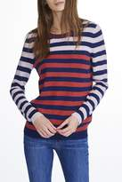 White + Warren Cashmere Striped Crewneck