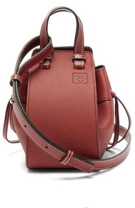 Loewe Hammock Mini Leather Cross-body Bag - Womens - Dark Red