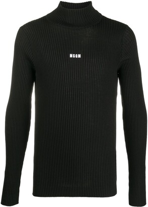 MSGM Fine Knit Roll Neck