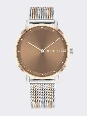 Tommy Hilfiger Two-Tone Mesh Bracelet Watch