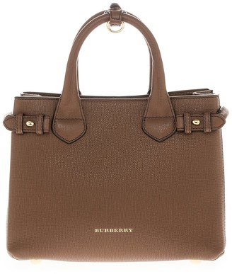 Burberry Banner Leather Top-Handle Bag