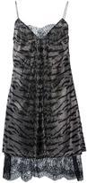 Ermanno Scervino zebra striped metallic dress