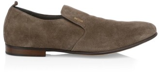Dunhill Engine Turn Suede Loafers