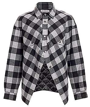 Balenciaga Women's Swing Canadian Plaid Shirt