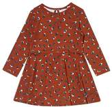 Wallis **Girls Tan Animal Print Skater Dress (18 months - 6 years)