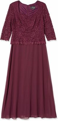 Alex Evenings Women's Long Mock Dress Sweetheart Neckline (Petite Regular Sizes)