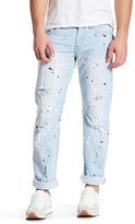 True Religion Paint Splatter Straight Jean
