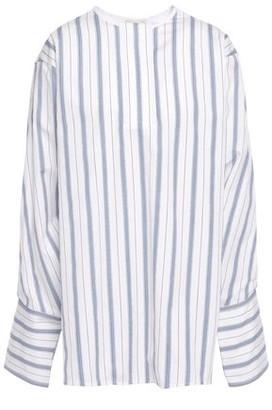 By Malene Birger Striped Cotton-poplin Blouse