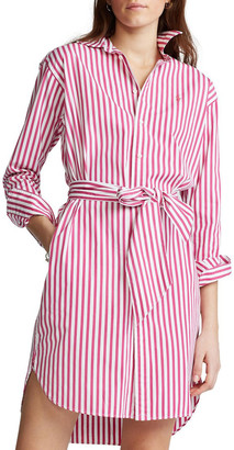 Polo Ralph Lauren Striped Belted Shirtdress