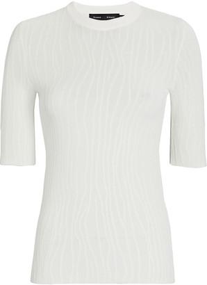Proenza Schouler Crinkle Textured Knit Top
