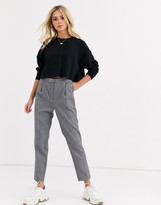 New Look tailored work pants in gray pattern