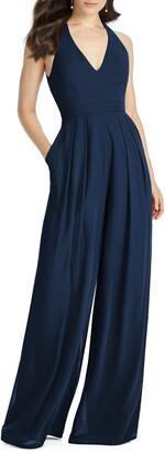 Dessy Collection Arielle V-Neck Lux Chiffon Jumpsuit
