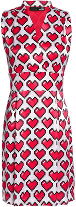 Love Moschino Printed Satin-crepe Mini Dress